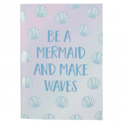 Mermaid Treasures Shell Notebook