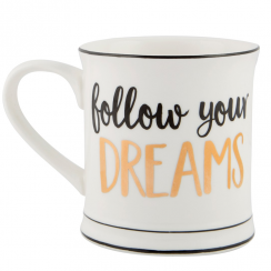 Metallic Monochrome Follow Your Dreams Mug