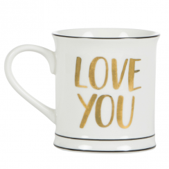 Modern Monochrome Love You Mug