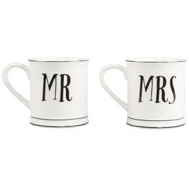Mr & Mrs Contemporary Mugs