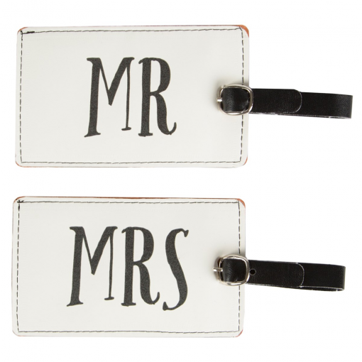 Mr & Mrs Luggage Tags