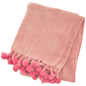 Nevada Pink Herringbone Blanket Throw