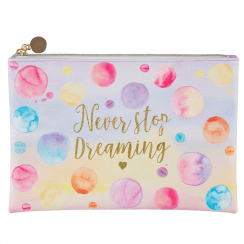 Never Stop Dreaming Paint Splash Make up Bag