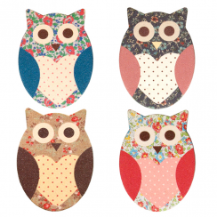 Owl Floral Nail File Assorted