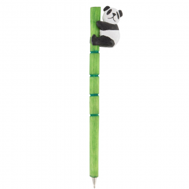 Panda Carved Wood Pen