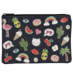 Patches & Pins Make up Bag