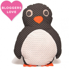 Pete Penguin Applique Cushion