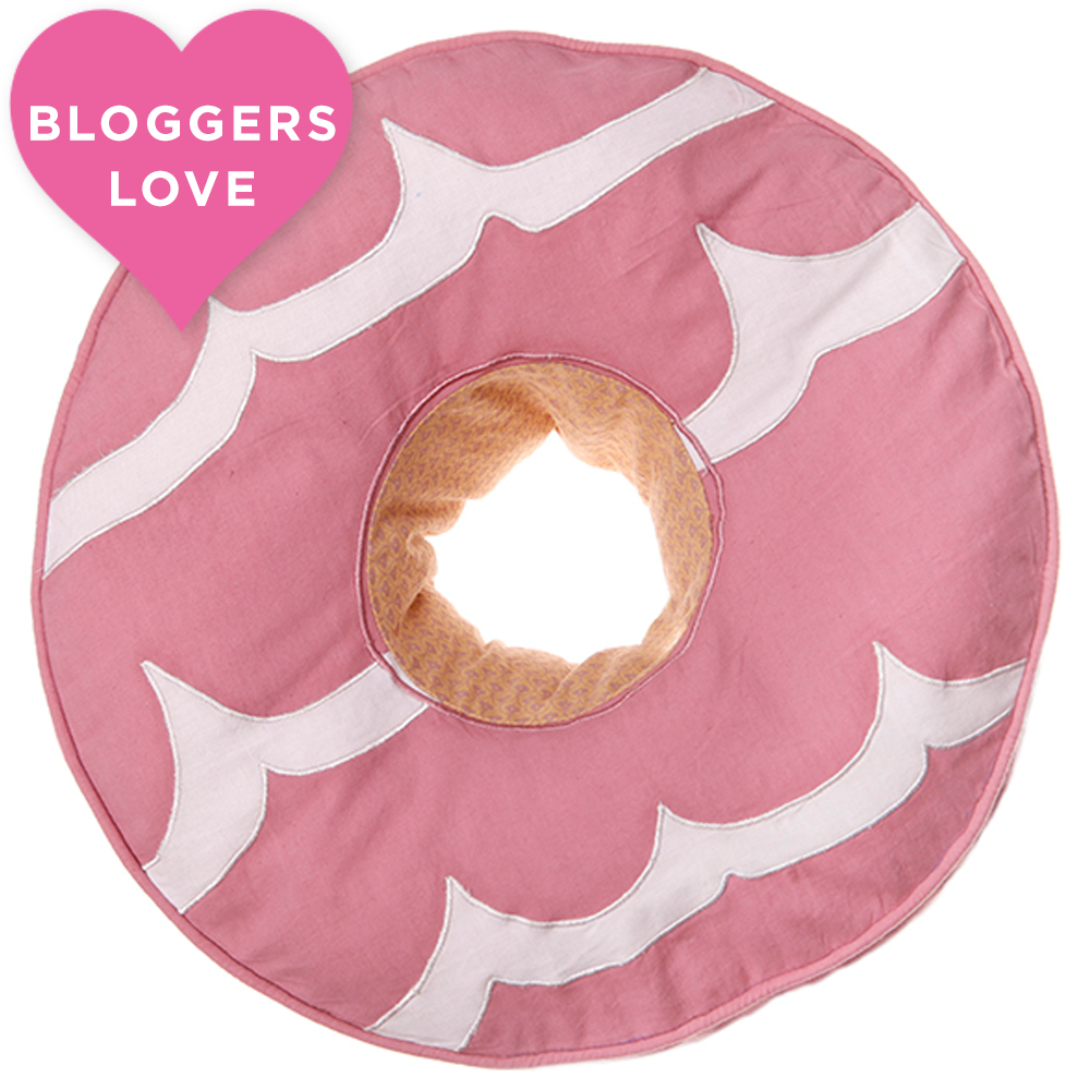 Sass & Belle Pink Party Ring Biscuit Cushion at Flamingo Gifts.