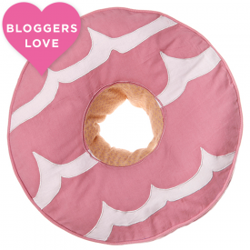 Pink Party Ring Biscuit Cushion