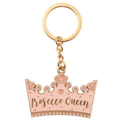Prosecco Queen Crown Enamel Keyring