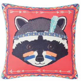 Raccoon Tribal Adventure Cushion
