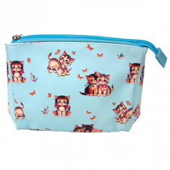 Retro Kitten Make Up Bag