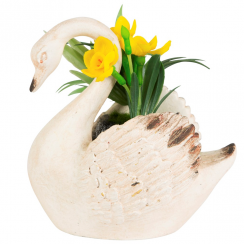 Rustic Swan Decoration with Flowers
