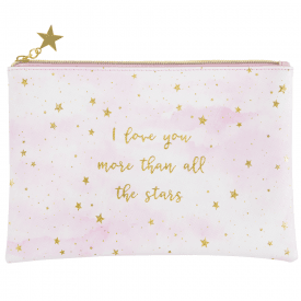 Scattered Stars Love You More Make up Bag