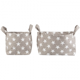 Set of 2 Nordic Star Storage Baskets