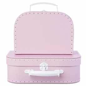 Set of 2 Pastel Pink Suitcases