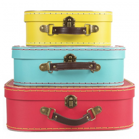 Set of 3 Brights Retro Suitcases