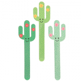 Set of 3 Colourful Cactus Nail Files