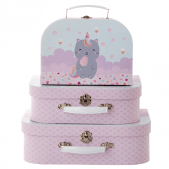 Set of 3 Luna Caticorn Suitcases