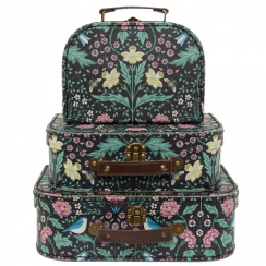 Set of 3 Midnight Garden Suitcases