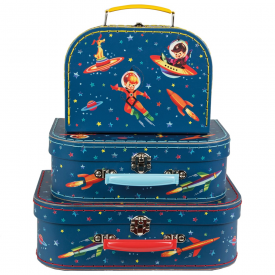 Set of 3 Retro Space Suitcases
