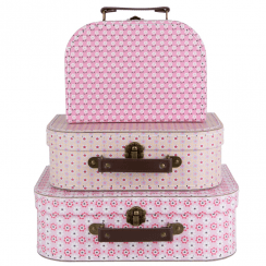 Set of 3 Spring Retro Daisy Suitcases