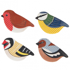 Set of 4 British Birds Nail Files