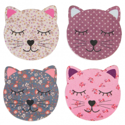 Set of 4 Cat Nail Files