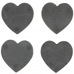 Set Of 4 Slate Heart Coasters
