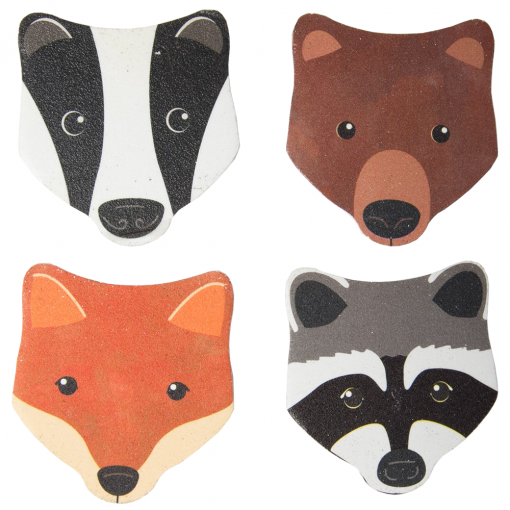 Set of 4 Woodland Animals Nail Files
