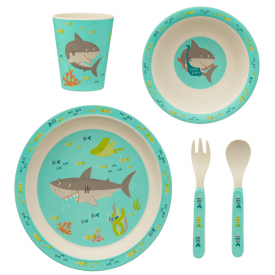 Shelby The Shark Bamboo Tableware Set