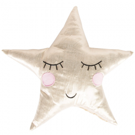 Shining Metallic Star Cushion