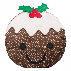 Smiley Christmas Pudding Cushion
