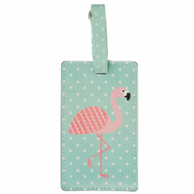 Tropical Flamingo Luggage Tag