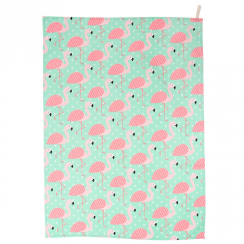 Tropical Flamingo Tea Towel