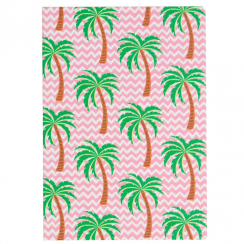 Tropical Summer Palm Tree A5 Notebook