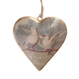 True Love Vintage Heart Decoration