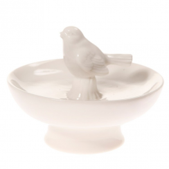 White Ceramic Bird Ornament