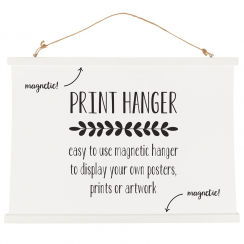 White Print Hanger Magnetic Large