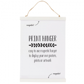 White Print Magnetic Hanger Small