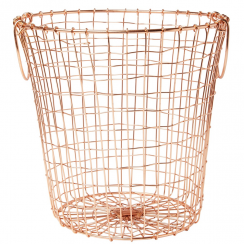 Wire Mesh Round Basket Copper