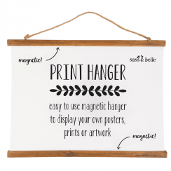 Wooden Print Hanger Large