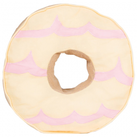 Yellow Party Ring Biscuit Cushion