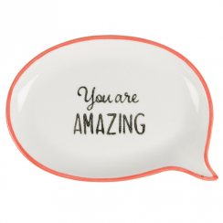 You are Amazing, Sweet Speech Trinket Dish