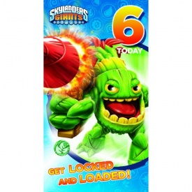 Skylanders Age 6 Birthday Card