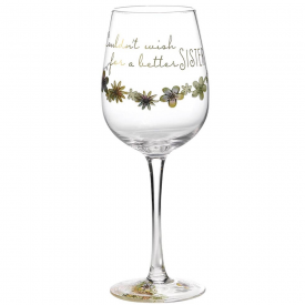 Wish Sister Wine Glass