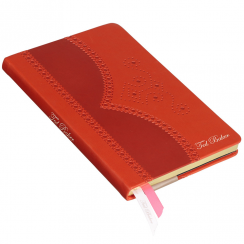A5 Orange Brogue Notebook