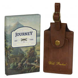 "Brogue Brown ""Well Packed"" Luggage Tag"