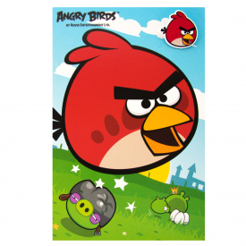 Angry Birds Birthday Card & Badge