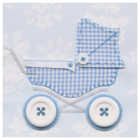 Baby Boy's Pram Card, Catherine Colebrook